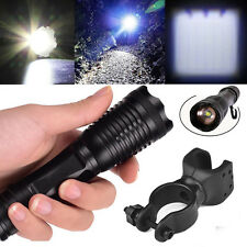 New 5000Lumen 5Modes T6 LED Zoomable 18650 Flashlight Torch Light + Bike Clip