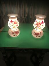 Pair of  Antique/Vintage Hand painted Floral Lamps