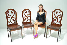 Set of furniture for Dolls 12 inch 1:6 FR Barbie Momoko 4 Chairs very beautiful