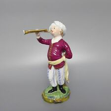 Höchst Trompeter Trompetenspieler Figur aus der Türkenkapelle H. 16,5cm  (D)
