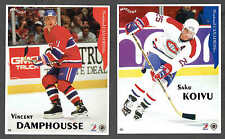 """1996-97 Maggers Canadiens' Koivu And Damphousse Error Proof Pair, 6""""x 7 1/2"""" (2)"""
