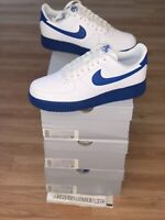 New Nike Air Force 1 Low White Royal Blue Men's Size 10-12 Sneakers CK7663-103