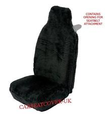 Smart ForTwo - Premium Black Faux Fur Car Seat Covers- 2 x Fronts