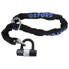 Oxford Chain8 Steel Bike Chain Lock And Mini Shackle Black 8mm x 1000mm LK140