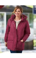 New Tudor Court Haband Ultimate Parka Winter Jacket Coat Faux Fur Trim Hood