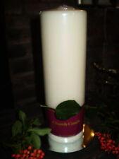 Grand Danish Crème église bougie-pilier, 110 HEURES temps de Brûlage,