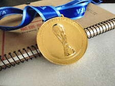 NEW 2014 Brazil FIFA World cup Champion Gold Medal Ribbon Collection XMAS Gift