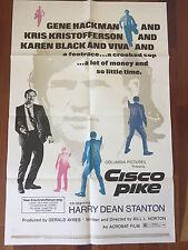 1972 Cisco Pike Gene Hackman Harry Dean Stanton 1-Sheet Movie Poster 27 X 41