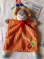 PELUCHE DOUDOU Lion plat orange champignon pomme Mots d'enfants  NEUF étiqueté