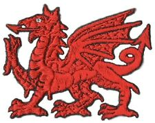More details for welsh wales red dragon iron on national embroidered patch/badge*