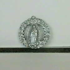 """Catholic Lady of the Guadalupe Virgin de Guadalupe Pewter Hanging Art 3 1/4"""""""