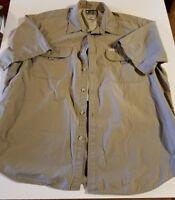 Columbia Mens Shirt Short Sleeve Vented Performance Fishing Gear size XL