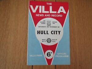 Aston Villa V Hull   1967/8
