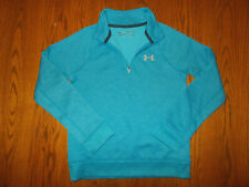 UNDER ARMOUR COLD GEAR 1/4 ZIP BLUE SWEATSHIRT BOYS SMALL EXCELLENT CONDITION