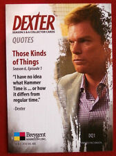 "DEXTER - Seasons 5 & 6 - FULL ""DEXTER QUOTES"" CHASE SET - Breygent Marketing"