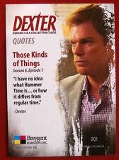 "DEXTER - Seasons 5 & 6 - FULL ""DEXTER QUOTES"" CHASE SET - Breygent Marketing"