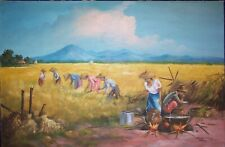 RICARDO B. ENRIQUEZ (B. 1920) ORIGINAL OIL PAINTING 1971 ~ PHILIPPINE LANDSCAPE