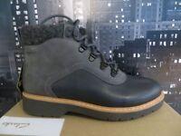 Clarks Womens Ankle Boots Winter Casual Shoes Korik Rock GORETEX Dark Grey Combi