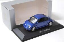 1:43 Minichamps Volkswagen VW New Beetle blue DEALER NEW bei PREMIUM-MODELCARS