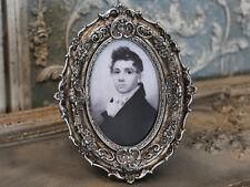 Chic Antique Bilderrahmen oval shabby vintage Foto Rahmen Nostalgie Brocante