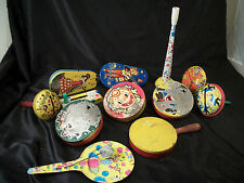 Metal New Year's Eve noise makers 12 vintage seasonal party time holiday unique