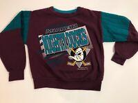 Vintage Mighty Ducks Anaheim Youth Size Large Hockey Pullover Sweatshirt