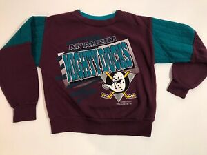 Vintage Mighty Ducks Anaheim Youth Size Large Hockey Pullover Sweatshirt