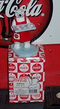 COCA - COLA CERAMIC POLAR BEAR W/ TRAY OF COOKIES FIGURINE EXCELLENT CONDITION