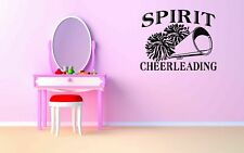 Wall Vinyl Sticker Room Decals Mural Design Cheerleader Spirit Pompons bo1141