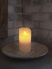LED cire véritable Bougie 15 x 8 cm avec flamme mobile blanc Twinkle Flame 70320