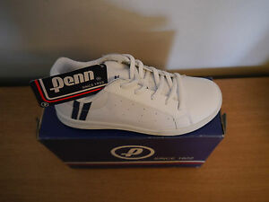 Penn Footwear Royal Court Junior White Trainers Tennis Style Shoes 2 3 4 5 6 7