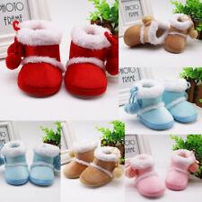 2020 Infant Newborn Baby Girls Cashmere Plush Winter Boots Bandage Warm Shoes