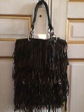 SAC ZARA CUIR MARRON FRANGES