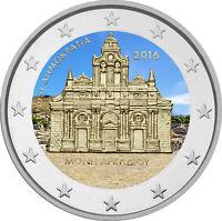 2 Euro Gedenkmünze Griechenland 2016 coloriert m. Farbe / Farbmünze Arcadi
