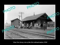 OLD LARGE HISTORIC PHOTO OF ETNA NEW JERSEY, ERIE RAILROAD STATION c1910 1