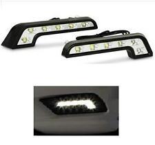 1 x Pair 6 LED L Shape 6000K White DRL Daytime Running Lights - Peugeot 106 107
