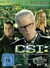 CSI: LAS VEGAS-SEASON 15.2  3 DVD NEU TED DANSON/ELISABETH SHUE/+