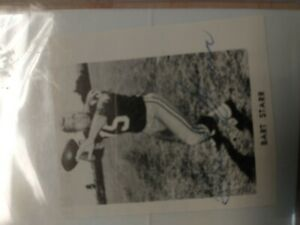 Bart Starr autographed photo