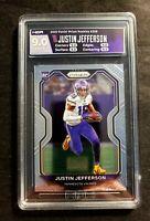2020 Prizm Justin Jefferson #398 Vikings HGA Graded 9.0 Mint  PSA