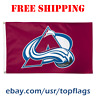 Deluxe Colorado Avalanche Logo Flag Banner 3x5 ft 2019 NHL Hockey Fan Gift NEW