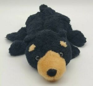 Caltoy Black Grizzly Bear Plush Hand Puppet Stuffed Animal Toy Preschool Soft