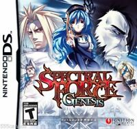 Spectral Force Genesis  (Nintendo DS, 2010) Brand New Factory Sealed