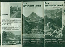 Das bayerische Inntal Panoramakarte Orte 1930er Fotos Informationen Unterkünfte