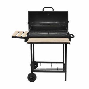 Barbecue fumoir smoker KENTUCKY noir  au charbon de bois