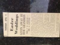 M3-8a 1941 dagenham. ww2 article wedding mrs clara quelch a sawyer