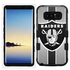 for Samsung Galaxy Note 8 Rugged Hard+Rubber Hybrid Case Oakland Raiders #S
