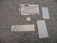 Walthers decals HO Caboose 72-06 Nickel Plate Road white  L39