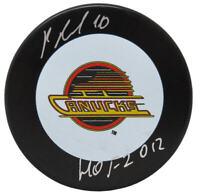 Pavel Bure Signed Vancouver Canucks Logo Hockey Puck w/HOF 2012 - SCHWARTZ COA