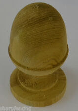 """5 x Post Acorn Green Treated Finial 4"""" (100mm) with Post Finial Base & Screw"""