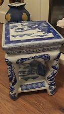 Large Vintage Oriental Ceramic Porcelain Stool / Table  Chinese
